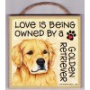 "Wall Plaque 5x5"" - Love Is Being Owned By A Golden Retriever!"