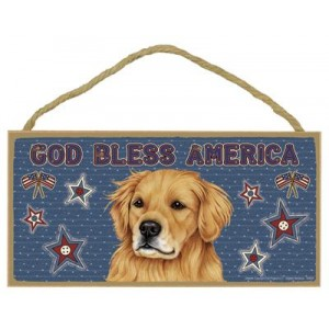 """Wall Plaque 5x10"""" - God Bless America!"""