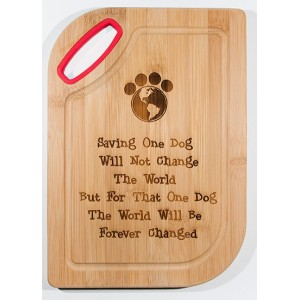 Cutting Board - Saving One Dog