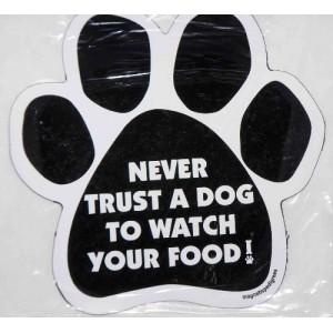 Never Trust a Dog to Watch your Food!